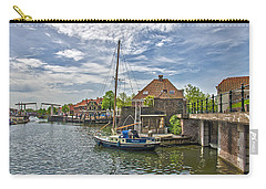 Carry-all Pouch featuring the photograph Brielle Harbour by Frans Blok