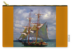 Carry-all Pouch featuring the digital art Brig Niagra 2017 by Kathryn Strick
