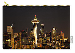 Bright At Night - Space Needle Carry-all Pouch by E Faithe Lester