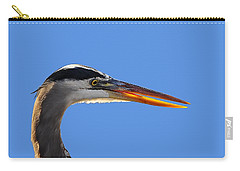 Carry-all Pouch featuring the photograph Bright Beak Blue .png by Al Powell Photography USA