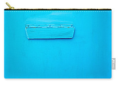 Carry-all Pouch featuring the photograph Bright Blue Paint On Metal With Postbox by John Williams