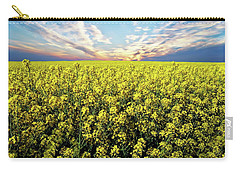 Bright Flowering Field Carry-all Pouch by Anthony Dezenzio