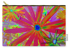 Bright Flowers Wallpaper Carry-all Pouch
