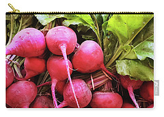 Bright Fresh Radish Carry-all Pouch by GoodMood Art