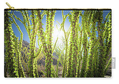 Carry-all Pouch featuring the photograph Bright Light In The Desert by T Brian Jones