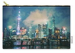 Bright Lights Of Pudong Carry-all Pouch