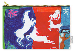 Bright Lippizans Carry-all Pouch