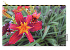 Bright Orange Day Lily Carry-all Pouch