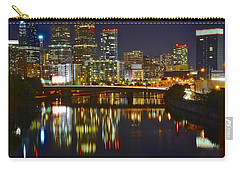 Bright Philly Night Carry-all Pouch by Frozen in Time Fine Art Photography
