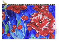 Bright Poppies Carry-all Pouch