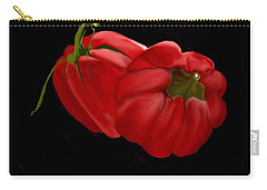 Bright Red Peppers Carry-all Pouch