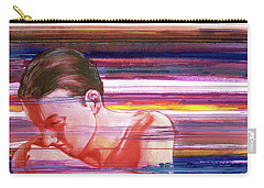 Carry-all Pouch featuring the painting Bright Silence by Rene Capone