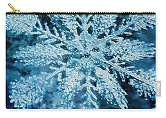 Bright Snowflake Carry-all Pouch by Kathy Bassett