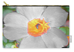 Bright White Vinca With Soft Green Carry-all Pouch