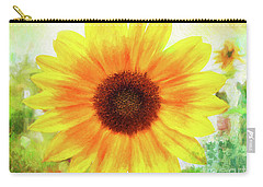 Bright Yellow Sunflower - Painted Summer Sunshine Carry-all Pouch
