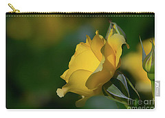 Bright Yellow Walking On Sunshine Rose Carry-all Pouch