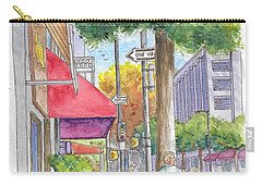 Brighton Way And Camden Dr., Beverly Hills, California Carry-all Pouch