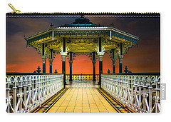 Carry-all Pouch featuring the photograph Brighton's Promenade Bandstand by Chris Lord