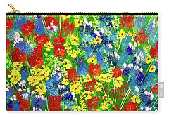 Brilliant Florals Carry-all Pouch by George Riney