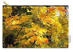 Carry-all Pouch featuring the photograph Brilliant Maple Leaves by Will Borden