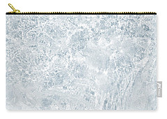 Carry-all Pouch featuring the photograph Brilliant Shine. Series Ethereal Blue by Jenny Rainbow