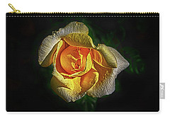 Carry-all Pouch featuring the photograph Brilliant Yellow by Judy Hall-Folde