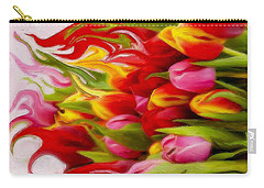 Carry-all Pouch featuring the mixed media Bring Color Into Your Life by Gabriella Weninger - David