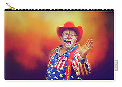 Bringing Fun To The Rodeo Greek Ellick Jr.  Carry-all Pouch by Toni Hopper