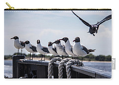 Carry-all Pouch featuring the photograph Bringing Up The Rear by Phil Mancuso
