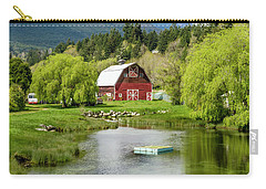 Brinnon Washington Barn By Pond Carry-all Pouch by Teri Virbickis