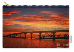 Bridge Sunrise Carry-all Pouch by Tom Claud