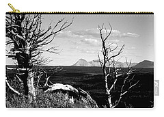 Bristle Cone Pines With Divide Mountain In Black And White Carry-all Pouch