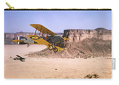 Carry-all Pouch featuring the photograph Bristol Fighter - Aden Protectorate  by Pat Speirs