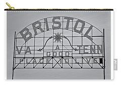 Bristol Slogan Sign Va Tn Carry-all Pouch
