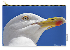 Carry-all Pouch featuring the photograph British Herring Gull by Terri Waters