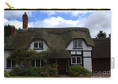 British Thatched Cottage Carry-all Pouch by Stephen Melia
