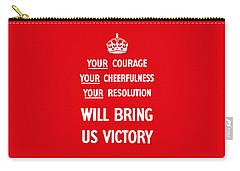 British Ww2 Propaganda Carry-all Pouch