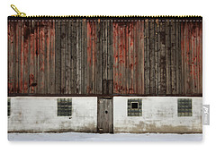 Carry-all Pouch featuring the photograph Broad Side Of A Barn by Julie Hamilton