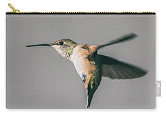 Broad-tailed Hummingbird Approaching Feeder Carry-all Pouch by Stephen Johnson
