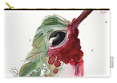 Carry-all Pouch featuring the painting Broadtail Hummingbird by Dawn Derman