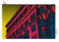 Broadway 118 In Fuschia Carry-all Pouch by Edgar Farrera