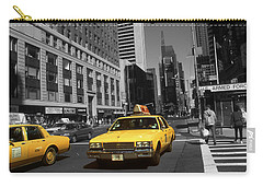 New York Broadway - Yellow Taxi Cabs Carry-all Pouch