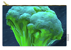 Broccoli 01 Carry-all Pouch by Wally Hampton