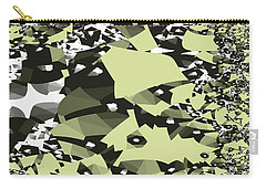 Carry-all Pouch featuring the digital art Broken Abstract by Jessica Wright