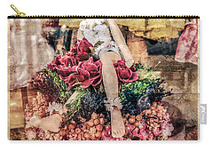 Carry-all Pouch featuring the photograph Broken Doll In The Window by Melinda Ledsome