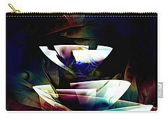 Carry-all Pouch featuring the digital art Broken Glass by Anastasiya Malakhova