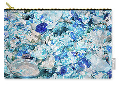 Carry-all Pouch featuring the photograph Broken Glass Blue by Melissa Lane