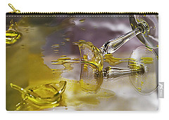 Carry-all Pouch featuring the photograph Broken Glass by Susan Capuano