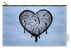 Broken Heart Carry-all Pouch by Edwin Alverio