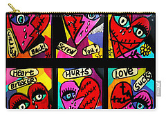 Broken Hearts Carry-all Pouch